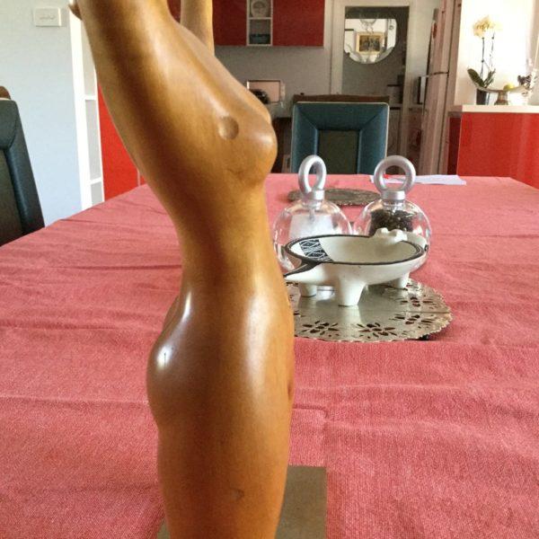 Laszlo Hoenig London Rare Fruitwood and Brass Dancing Nude