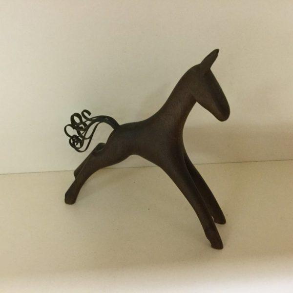 Hagenauer Horse, Walnut and Brass, Rare Made for Rena Rosenthal New York USA