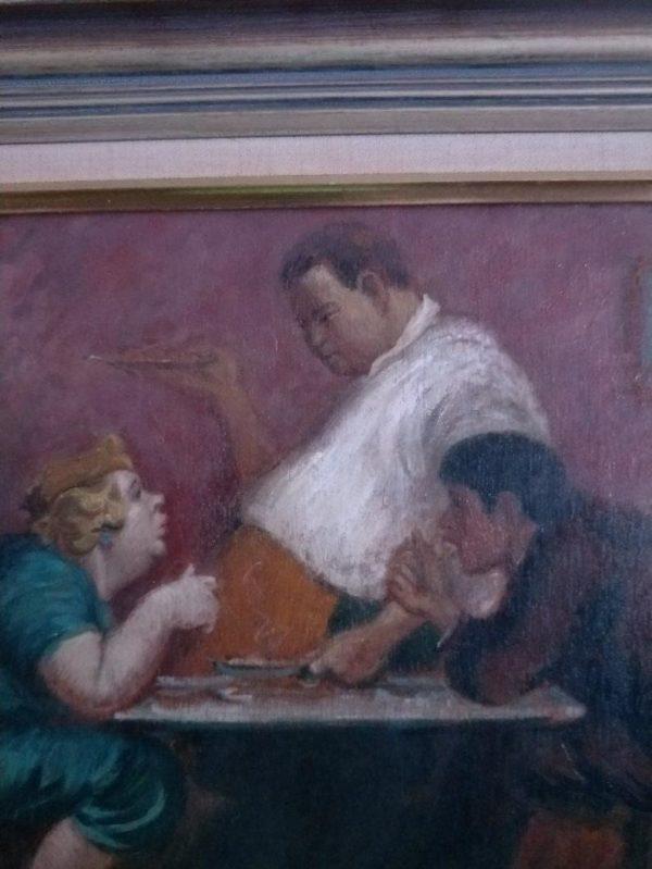 1940s Oil by Terence John Santry ( Australia 1910-90)