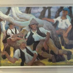 Vaughan Murray Griffin, Important Museum Masterpiece Oil Painting Ballet 1980