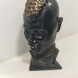 Rare 1950s Richard Rohac Vienna / Hagenauer African Male Bronze Bust