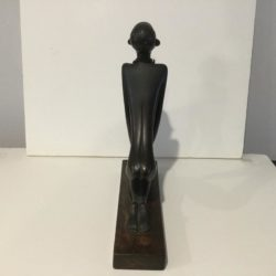 Hagenauer Werkstatte Art Deco Kneeling African Nude Nubian