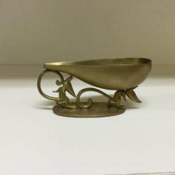 Hagenauer Werkstatte Art Deco Double Rat Gilt Bronze Pipe Rest